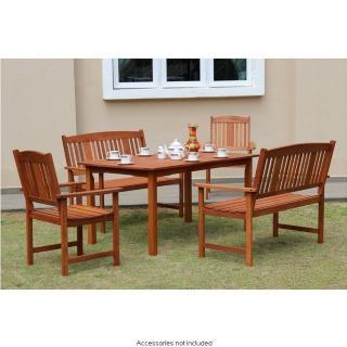Jakarta 5 piece patio set in wood - £149.99 - B & M