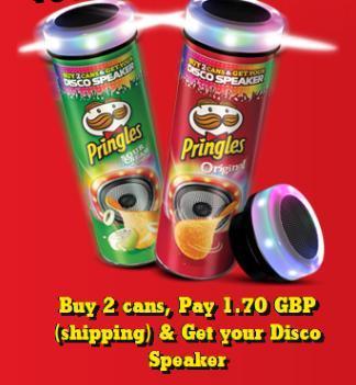Pringles Disco Speaker £1.70 @ Pringles