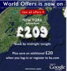 New York return from 189 GBP with British Airways