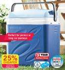 Electric Cool Box 29.5L with mains and car adaptor for under thirty quid.