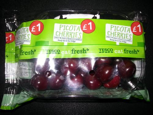Picota cherries 250g only £1 at Tesco