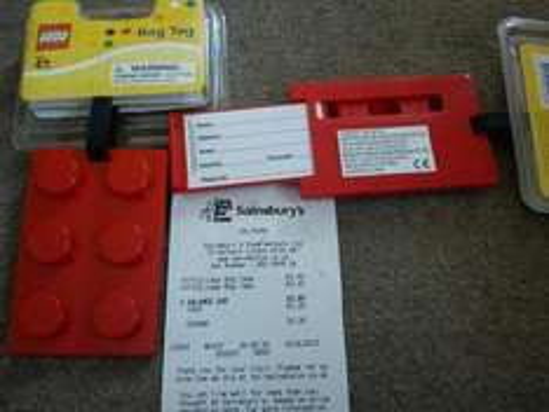 lego luggage/bag  tag     40p ( sainsburys)