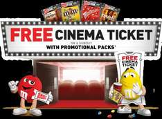 FREE Cinema ticket when you buy 4 packs of chocolate* for £1 each @ ASDA