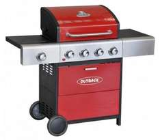 Outback Meteor Select Red BBQ with free cover + free delivery £249 @ bbqworld