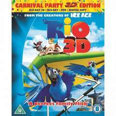 Rio 3D carnival edition - (Blu-ray 3D + Blu-ray + DVD + Digital Copy) + other 3D blu rays for £10 @ ASDA instore