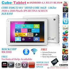 CUBE U30GT2 16GB 10.1 Retina IPS Quad Core 1.8Ghz Android 4.2 Tablet £194.99 @ eBay / Smart Tech Store