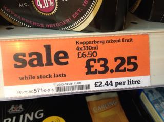 Kopparberg Mixed Fruit 4 bottles 330ml £3.25 at Sainsbury's