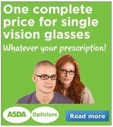 ASDA Opticians - 2 Pairs of Glasses from £80 with free thinner lenses