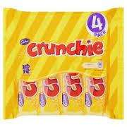 Morrisons cadburys caramel Dairy milk, crunchies pack of 4 only £1.00