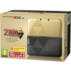 Nintendo 3DS XL - Black & Gold Limited Edition with Zelda Link Between Worlds @ zavvi.com - £175.48 with code