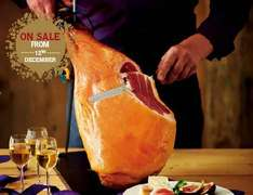 Aldi Specially Selected Serrano Ham Leg £49.99 x 6.5kg (£7.69kg) includes stand, knive and sharpening steel