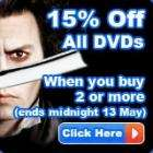 15% Off All DVDs when you buy 2 or more @ The Hut