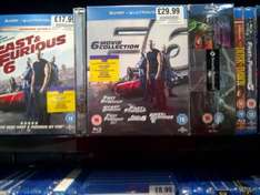 Fast and Furious: 6 Movie Collection [Blu-ray] £29.99 @ HMV