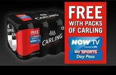 12 Cans of Carling plus free Nowtv Sky Sports Day Pass £6.99 @ nisa