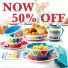 50% Off Mix & Match Ceramic ranges [mugs, teapots, plates] @ Whittard of Chelsea - plus 20% Off code!