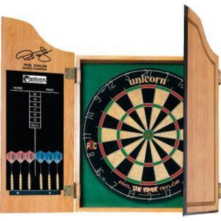 Unicorn Phil Taylor Dartboard, Cabinet and Darts. @ Argos £24.99 + 3.15% TCB