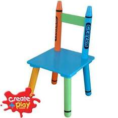 Create and Play Children's Crayon Chair - £5.99 @ Home Bargains