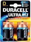 Duracell Ultra M3 D-Cell (LR20) Alkaline Batteries (2pk) (MN1300)