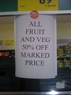 Aldi selling ALL Fruit and Veg at Half price