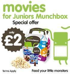 Movies for juniors munchbox £2 before 10.30am (usually £3.25p) @ Cineworld