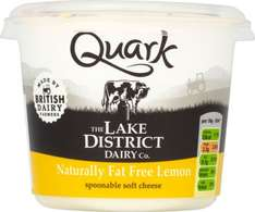 Quark (Fat Free) Soft Cheese from The Lake District Cheese Co. Natural, Vanilla, Lemon (250g) was £1.25 now 62p @ Tesco