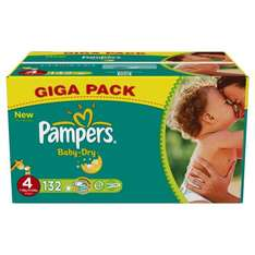 Pampers Baby Dry Size 4 (Maxi) Giga Pack 132 Nappies £11.50 @ Amazon