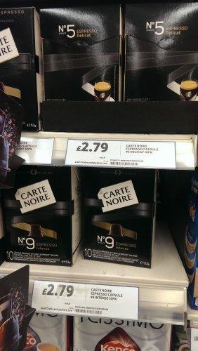 Carte Noir Nespresso compatible pods £2.79 @ Tesco instore