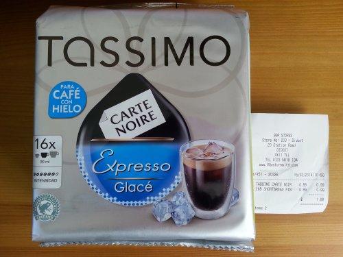 Tassimo Carte Noir Expresso Glace 16 pods £0.99 - 99p Stores