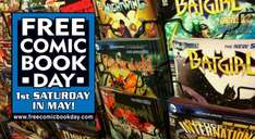 free comic day 3rd of may  pop to your comic shop kids love it