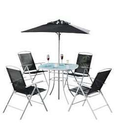Atlantic 4 Seater Patio Furniture Set   Black   £67.99 @ Argos Or £62.99