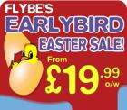 Flybe's Early Bird Easter Sale : Fly from £19.99 one way