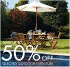 up to 50% off selected outdoor furniture at bhs