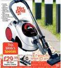 Dirt Devil bagless cleaner with tools - £29.99          Netto - June 30th