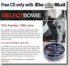 Free David Bowie CD in the Mail on Sunday newspaper.