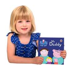 Personalised Peppa Pig Hardback Book For Fathers Day 30% off Penwizard £10.49 (with code) Inc Delivery