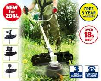 2-in-1 Petrol Grass Trimmer/Brush Cutter + 3 Year Warranty - £98.99 @ ALDI