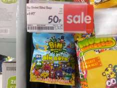 Bin Weevils Bin Bots blind bags were £2.97 now 50p instore at Asda