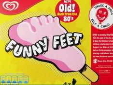 Wall's Funny Feet ice lolly's - £2 at major supermarkets then £1.50 cashback with Shopitize