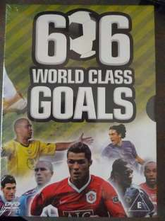 606 World Class Goals (6 dvd - 3 double sided dvds) Boxset £1 @ Poundland (Running time 347 mins)