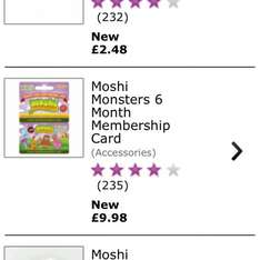 Moshi Monsters 6 month membership half price £9.98 on Game.co.uk
