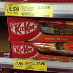 Tesco Kit Kat 8 pack £1.59 down from £1.59