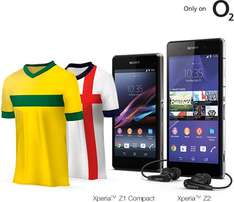 FREE/HALF-PRICE World Cup Football Shirt - O2 Xperia Z2/ Z1 Compact Deal @ Sony Mobile