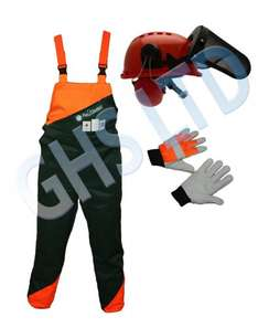 CHAINSAW SAFETY PROTECTION BIB & BRACE TROUSERS TYPE A £75.75 ebay / garden-hire-spares