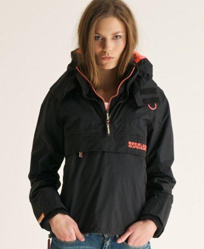 New Womens Superdry Pop Zip Wind Cagoule Jacket Black VH - £16.99 @ eBay Superdry