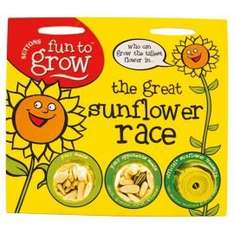 Garden fun for the kids.....Suttons Seeds Sunflower Race or Pumpkin Competition(link in post) £3.50 each with free C&C Tesco Direct