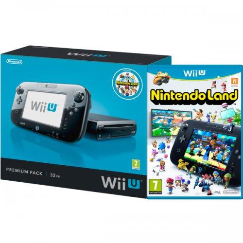 Nintendo Wii U 32GB Console (Black) (Premium Pack) Nintendo Land for £179.00 @ direct.asda.com