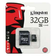 Kingston 32GB micro sdhc Class 10 memory card from MemoryBits - £10.99 delivered.