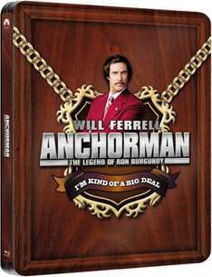 (Blu Ray) Anchorman: The Legend of Ron Burgundy - Zavvi Exclusive Limited Edition Steelbook - £7.99 - Zavvi