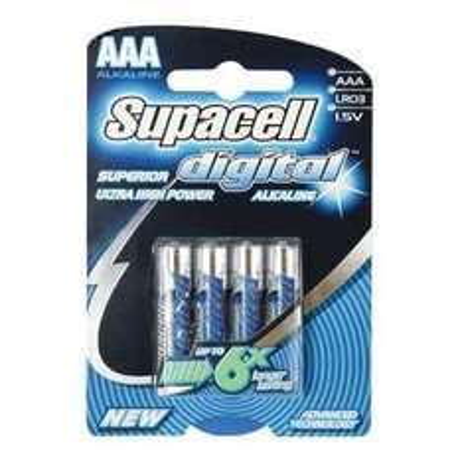 Supacell Digital AAA Batteries - 4 Pack 356363 £1.00 @ Homebase