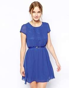 Jasmine Dress With Pleat Placket Now £18.00 delivered @ ASOS